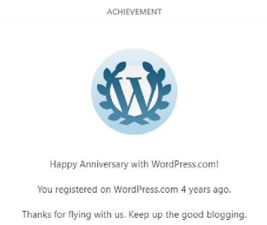 Wordpress 4 years