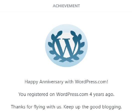 Wordpress 4 years